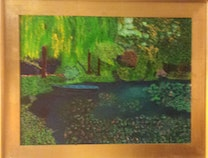 Photo of Artist's View of Monet's Garden, Giverny, France